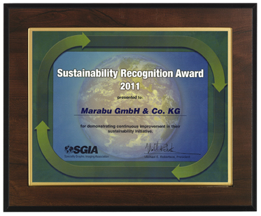 SGIA Sustainability Recognition Award 2011